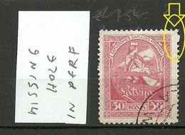 LETTLAND Latvia 1919 Michel 42 O Perforation ERROR Zähnungsabart O - Lettland