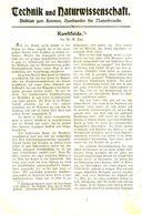 Kunstseide/ Artikel, Entnommen Aus Kalender /1909 - Books, Magazines, Comics