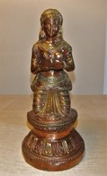 FIGURA DE BRONCE Y COBRE DE LA INDIA - Arte Asiático
