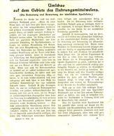 Umschau Auf Dem Gebiete Des Nahrungsmittelwesens / Artikel, Entnommen Aus Kalender /1909 - Books, Magazines, Comics