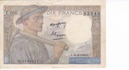 BILLETE DE FRANCIA DE 10 FRANCS DEL 30-6-1949 (BANKNOTE) MINEUR - 1871-1952 Antiguos Francos Circulantes En El XX Siglo