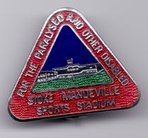 RARE Enamel Pin Badge STOKE MANDEVILE Sports Stadium For The Pralysed And Other Disabled (deaf ?) - Medical