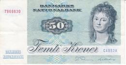 BILLETE DE DINAMARCA DE 50 KRONER DEL AÑO 1972 (BANK NOTE) - Dinamarca