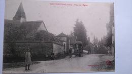 Carte Postale(C1) Ancienne De Thuisy Estissac , Place De L église - Francia