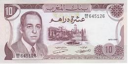 BILLETE DE MARRUECOS DE 10 DIRHAMS DEL AÑO 1970 EN CALIDAD EBC (XF) (BANKNOTE) - Marruecos