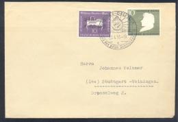 Germany Deutschland 1956 Cover : Minerals Mineraux  Edelstein Edelsteine Cancellation ; Mozart; Heine - Mineralien