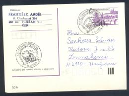 Czechoslovakia 1983 Card:  Minerals Mineraux Palaentology Mineralogy Internatinal Symposium - Mineralien