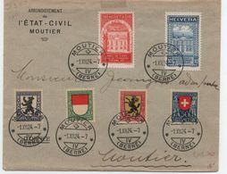 Suisse  Pro Juventue 1924 Sur Lettre - FDC