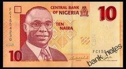 NIGERIA 10 NAIRA 2008 Pick 33c Unc - Nigeria