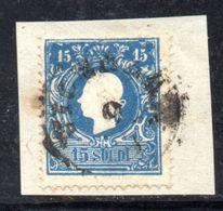 ASI19b - LOMBARDO VENETO 1859, Il 15 Soldi  Usato N. 32.  II° Tipo - Lombardo-Veneto
