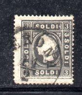 ASI22 - LOMBARDO VENETO 1858, Il 3 Soldi  Usato N. 24.  I° Tipo - Lombardo-Veneto
