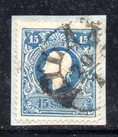 ASI23 - LOMBARDO VENETO 1858, Il 15 Soldi  Usato N. 27.  I° Tipo - Lombardo-Veneto