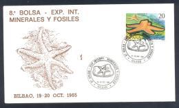 Spain 1985 Cover:  Minerals Mineraux Palaentology Mineralogy Fossils Fosil Fosilien;  International Exposition - Mineralien