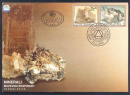 Yugoslavia 2001 Cover: Minerals Mineraux Palaentology Mineralogy ;  Kvarc, Kalcit - Mineralien