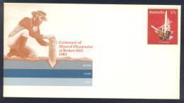Australia 1983 Postal Stationery Cover: Minerals Mineraux Palaentology Mineralogy ;  Cerussite - Mineralien