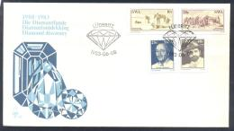 SWA South Africa 1983 Cover: Minerals Mineraux Palaentology Mineralogy  Mines  Diamant Diamond - Mineralien
