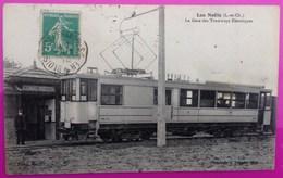Cpa Les Noels Gare Des Tramways Electriques Carte Postale 41 Loir Et Cher Rare Tramway Electrique Proche Blois Vineuil - Non Classés