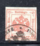 ASI24 - LOMBARDO VENETO 1858, Segnatasse Per Giornali Il 2 Kr  Usato N. 3 - Lombardo-Veneto