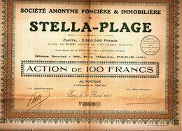 SOCIÉTÉ ANONYME FONCIÈRE &IMMOBILIÈRE De STELLA-PLAGE - Industry