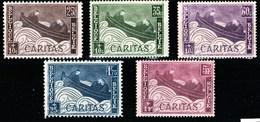 Belgique - Timbres Caritas De 1927 COB 249 / 253 ** - Belgique