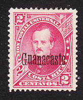 Costa Rica, Guanacaste, Scott #44, Mint Hinged, Alfaro Overprinted, Issued 1888 - Costa Rica