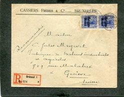 Deutsches Reich Landespost Belgien R Brief 1914-1918 - Besetzungen 1914-18