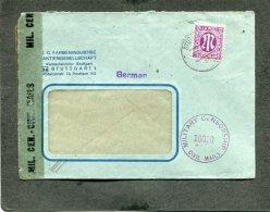 Allierter Besetzung Zehnfachfrankatur Zensur Brief 1946-1947 - Deutschland