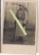1916 Fantassin Français Poilu équipé Fusil Berthier 07/15 Tranchées 1 Carte Photo Ww1 14-18 1wk 1914/1918 - War, Military