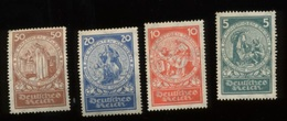 Nothilfe  Mi 351/354 *  Cote  40,- - Unused Stamps