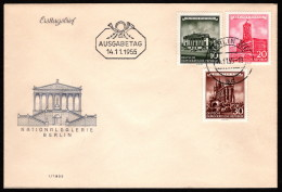 GDR SC #266, 268-9 1955 German Buildings FDC 11-14-1955 - FDC: Covers