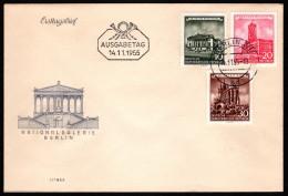 GDR SC #266, 268-9 1955 German Buildings FDC 11-14-1955 - [6] Democratic Republic
