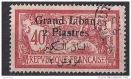 Libano 1924 Sc. 33 Surcharged Grand Liban 2 Piastres Viaggiato Used - Libano