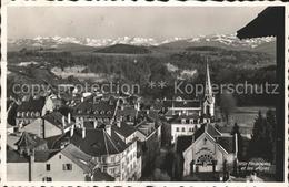 61334613 Fribourg FR Stadtpartie Mit Alpen / Fribourg /Bz. La Sarine - FR Fribourg