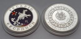 Scorpio Astrology Sun Sign Silver Coin From Armenia - Arménie