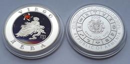 Virgo Astrology Sun Sign Silver Coin From Armenia - Arménie