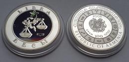 Libra Astrology Sun Sign Silver Coin From Armenia - Arménie