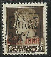 ZANTE 1943 AMMINISTRAZIONE CIVILE GRECA ITALY BLACK OVERPRINTED SOPRASTAMPA D'ITALIA NERA CENT. 10 MNH SIGNED - Deutsche Bes.: Zante