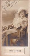 MISS COCKTAIL; LILLY MANON. AUTOGRAPHE AUTOGRAFO SIGNEE SIGNATURE AUTHENTIQUE ORIGINAL.-BLEUP - Autographes