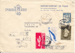 Romania Registered Express Cover Sent To Czechoslovakia 1962 - Covers & Documents