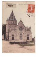 80 Framerville Eglise Environs De Chaulnes Cpa Carte Animée Calèche Cachet Ambulant Convoyeur Dunkerque à Paris 1910 E - Autres Communes