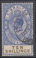 Gibraltar 1925-32 10s Fine Used. - Gibraltar