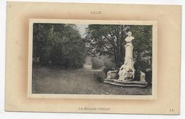 (RECTO / VERSO) LILLE EN 1911 - LE SQUARE JUSSIEU - PETIT PLI ANGLE BAS A GAUCHE - BEAU CACHET - CPA VOYAGEE - Lille