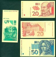 Croatia Banknote Republic 1993 1994 KUNA Proof Numismatic - Croatie