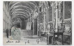 (RECTO / VERSO) LILLE EN 1905 - N° 4 - INTERIEUR DE LA BOURSE - BEAU CACHET - CPA VOYAGEE - Lille