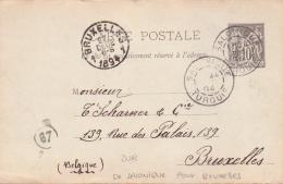 ALTE Postkarte / Ganzsache / TÜRKEI / Griechenland - Gelaufen 1906 Mit Poststempel SALONIKI - Turkey