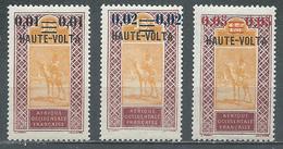 Haute-Volta YT N°18/20 Targui Surchargé Neuf/charnière * - Obervolta (1920-1932)