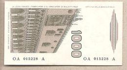 "Italia - Banconota Non Circolata FDS Da 1000£ ""Marco Polo"" - 1982 Lettera A - [ 2] 1946-… : Républic"
