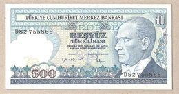 Turchia - Banconota Non Circolata Da 500 Lire P-195a.2 - 1984 - Turchia