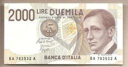 Italia - Banconota Circolata QFDS Da £ 2000 Marconi P-115 - 1990 - [ 2] 1946-… : Républic