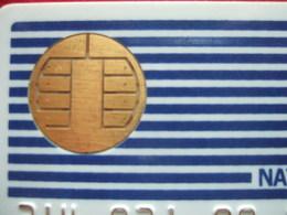 CARTES PASTEL - CARTE A PUCE NATIONAL BULL AVEC 8 TROUS + BARRE VERTICALE - 15 N° DORES - - Imp Ofs - TRES RARE - Pastel Cards